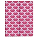 SCALES3 WHITE MARBLE & PINK DENIM Apple iPad 2 Flip Case View1
