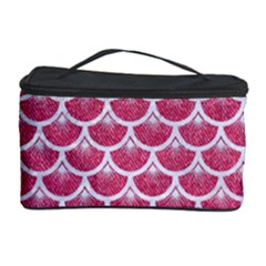 Scales3 White Marble & Pink Denim Cosmetic Storage Case