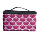 SCALES3 WHITE MARBLE & PINK DENIM Cosmetic Storage Case View1