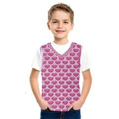 Scales3 White Marble & Pink Denim Kids  Sportswear