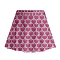SCALES3 WHITE MARBLE & PINK DENIM Mini Flare Skirt View1