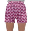 SCALES3 WHITE MARBLE & PINK DENIM Sleepwear Shorts View1