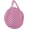 SCALES3 WHITE MARBLE & PINK DENIM Giant Round Zipper Tote View1