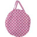 SCALES3 WHITE MARBLE & PINK DENIM Giant Round Zipper Tote View2