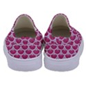 SCALES3 WHITE MARBLE & PINK DENIM Kids  Canvas Slip Ons View4