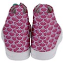 SCALES3 WHITE MARBLE & PINK DENIM Women s Mid-Top Canvas Sneakers View4