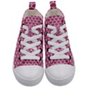 SCALES3 WHITE MARBLE & PINK DENIM Kid s Mid-Top Canvas Sneakers View1