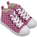 SCALES3 WHITE MARBLE & PINK DENIM Kid s Mid-Top Canvas Sneakers View3