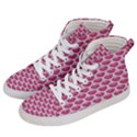 SCALES3 WHITE MARBLE & PINK DENIM Women s Hi-Top Skate Sneakers View2