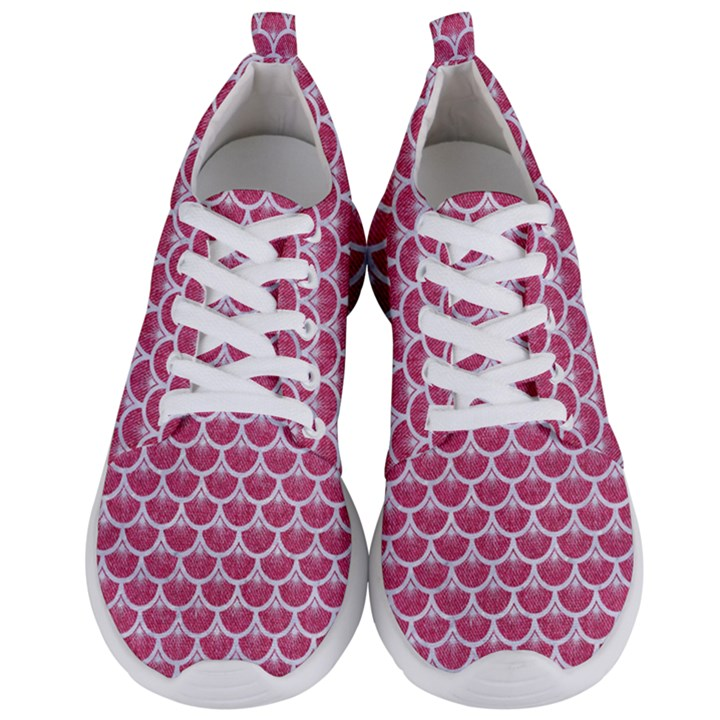 SCALES3 WHITE MARBLE & PINK DENIM Men s Lightweight Sports Shoes