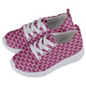 SCALES3 WHITE MARBLE & PINK DENIM Kids  Lightweight Sports Shoes View2