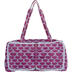 Scales3 White Marble & Pink Denim Multi Function Bag