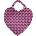 SCALES3 WHITE MARBLE & PINK DENIM Giant Heart Shaped Tote View2