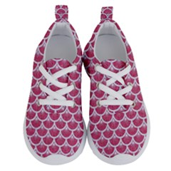 Scales3 White Marble & Pink Denim Running Shoes
