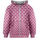 SCALES3 WHITE MARBLE & PINK DENIM Kids Zipper Hoodie Without Drawstring View1