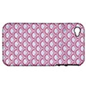 SCALES2 WHITE MARBLE & PINK DENIM (R) Apple iPhone 4/4S Hardshell Case (PC+Silicone) View1