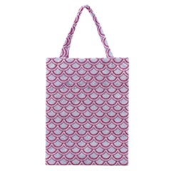 Scales2 White Marble & Pink Denim (r) Classic Tote Bag