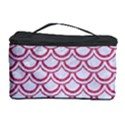 SCALES2 WHITE MARBLE & PINK DENIM (R) Cosmetic Storage Case View1