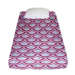 Scales2 White Marble & Pink Denim (r) Fitted Sheet (single Size)