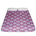 SCALES2 WHITE MARBLE & PINK DENIM (R) Fitted Sheet (King Size) View1
