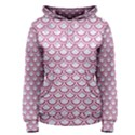 SCALES2 WHITE MARBLE & PINK DENIM (R) Women s Pullover Hoodie View1