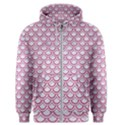 SCALES2 WHITE MARBLE & PINK DENIM (R) Men s Zipper Hoodie View1