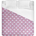 SCALES2 WHITE MARBLE & PINK DENIM (R) Duvet Cover (King Size) View1