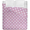 SCALES2 WHITE MARBLE & PINK DENIM (R) Duvet Cover Double Side (California King Size) View1