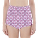 SCALES2 WHITE MARBLE & PINK DENIM (R) High-Waisted Bikini Bottoms View1