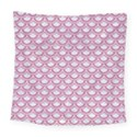 SCALES2 WHITE MARBLE & PINK DENIM (R) Square Tapestry (Large) View1