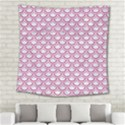 SCALES2 WHITE MARBLE & PINK DENIM (R) Square Tapestry (Large) View2