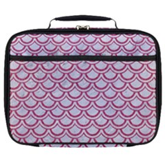 Scales2 White Marble & Pink Denim (r) Full Print Lunch Bag