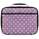 SCALES2 WHITE MARBLE & PINK DENIM (R) Full Print Lunch Bag View1
