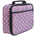 SCALES2 WHITE MARBLE & PINK DENIM (R) Full Print Lunch Bag View3