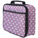 SCALES2 WHITE MARBLE & PINK DENIM (R) Full Print Lunch Bag View4