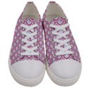 SCALES2 WHITE MARBLE & PINK DENIM (R) Women s Low Top Canvas Sneakers View1