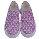 SCALES2 WHITE MARBLE & PINK DENIM (R) Kids  Canvas Slip Ons View1