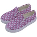 SCALES2 WHITE MARBLE & PINK DENIM (R) Kids  Canvas Slip Ons View2