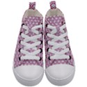 SCALES2 WHITE MARBLE & PINK DENIM (R) Kid s Mid-Top Canvas Sneakers View1