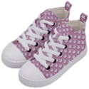 SCALES2 WHITE MARBLE & PINK DENIM (R) Kid s Mid-Top Canvas Sneakers View2