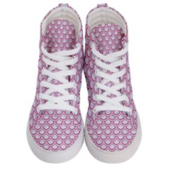 Scales2 White Marble & Pink Denim (r) Men s Hi Top Skate Sneakers