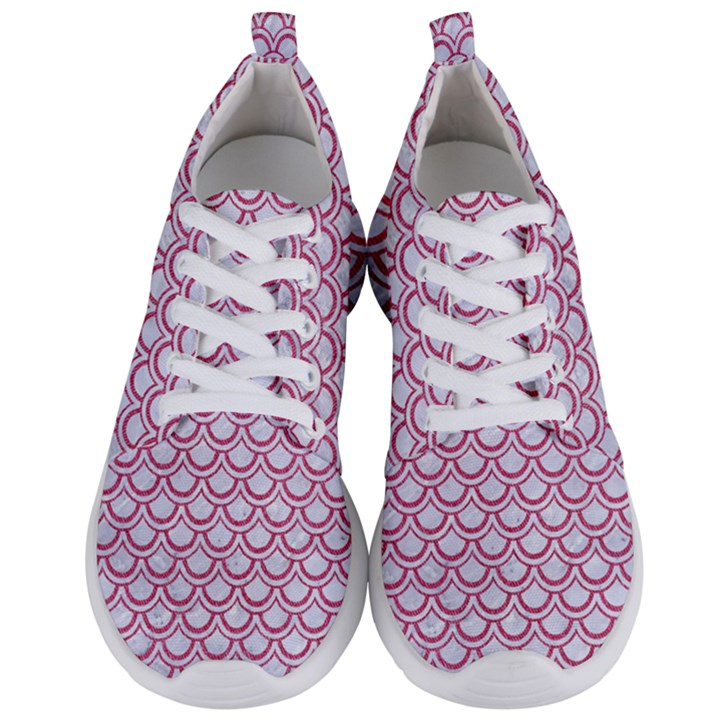 SCALES2 WHITE MARBLE & PINK DENIM (R) Men s Lightweight Sports Shoes