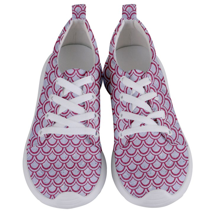 SCALES2 WHITE MARBLE & PINK DENIM (R) Women s Lightweight Sports Shoes