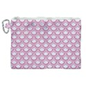 SCALES2 WHITE MARBLE & PINK DENIM (R) Canvas Cosmetic Bag (XL) View1
