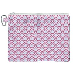 Scales2 White Marble & Pink Denim (r) Canvas Cosmetic Bag (xxl)