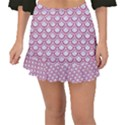 SCALES2 WHITE MARBLE & PINK DENIM (R) Fishtail Mini Chiffon Skirt View1
