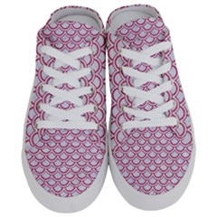 Scales2 White Marble & Pink Denim (r) Half Slippers