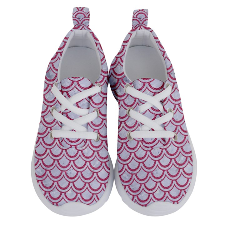 SCALES2 WHITE MARBLE & PINK DENIM (R) Running Shoes