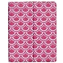 SCALES2 WHITE MARBLE & PINK DENIM Apple iPad Mini Flip Case View1