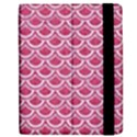 SCALES2 WHITE MARBLE & PINK DENIM Apple iPad Mini Flip Case View2